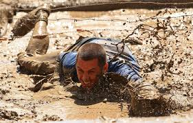 crawling through mud